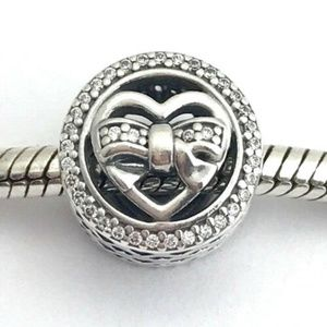 PANDORA Loving Ties, Sterling Silver w/ Clear CZ